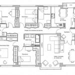 Plano para casa de 5 dormitorios