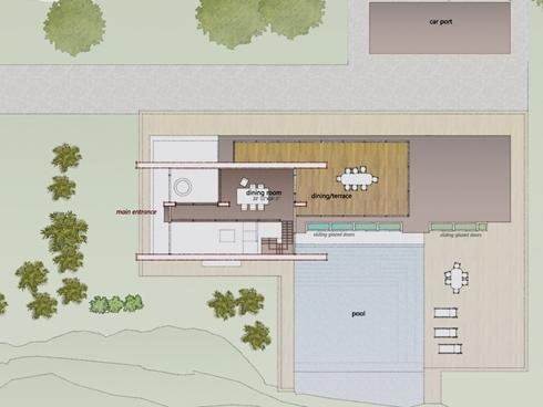 Casa minimalista de 120 mts for Plantas arquitectonicas minimalistas