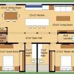 Plano de casa moderna en 90 metros cuadrados