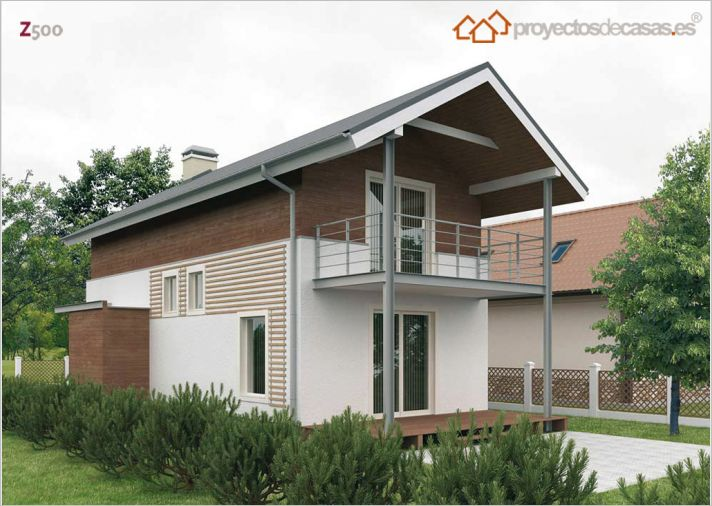 Casa peque a de dos plantas y tres dormitorios for Casa de 2 plantas y 3 habitaciones