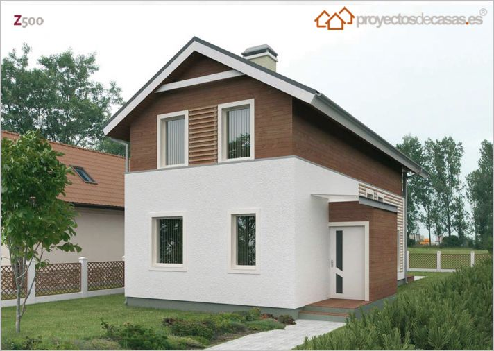 Planos de casa peque a for Planos y fachadas de casas pequenas de dos plantas