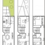 Plano para fachada angosta