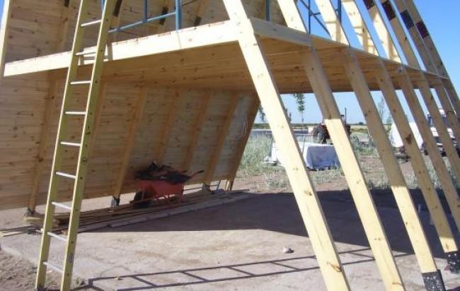 Estructura de cabaña alpina