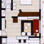Casa pequeña de 40 metros cuadrados