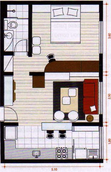 planos de casas 7×12