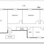Plano de casa con local comercial