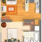 Plano para departamento de 40 metros cuadrados