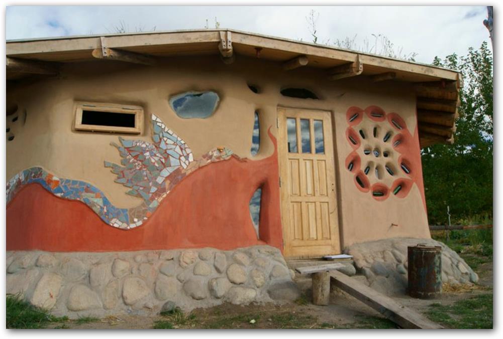 casa hecha con barro