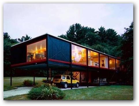 casa moderna con pilotes