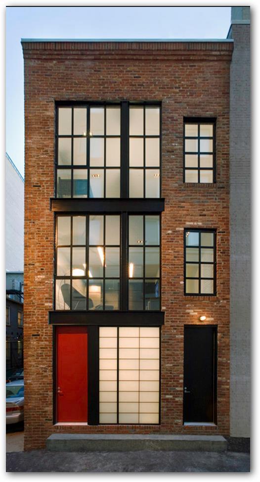 fachada de loft remodelado