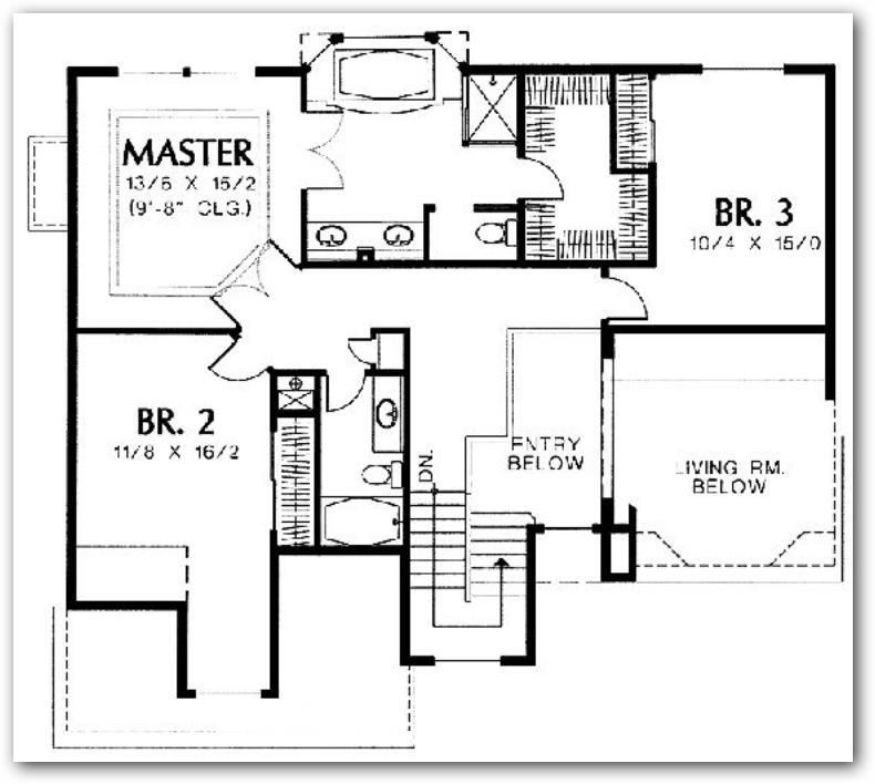planos de casas con escaleras