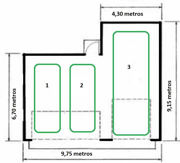 Plano garaje para 3 coches