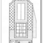 Plano de casa con fachada angosta