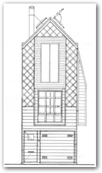 Casa en terreno pequeño