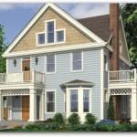Plano de casa grande de 250 metros cuadrados