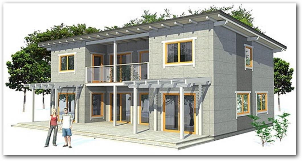 Casa moderna en 3D