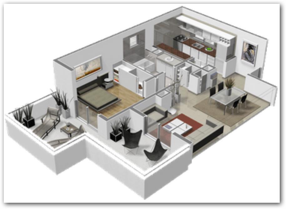 Distribución de ambientes en departamento
