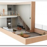 Plano de loft en 3D