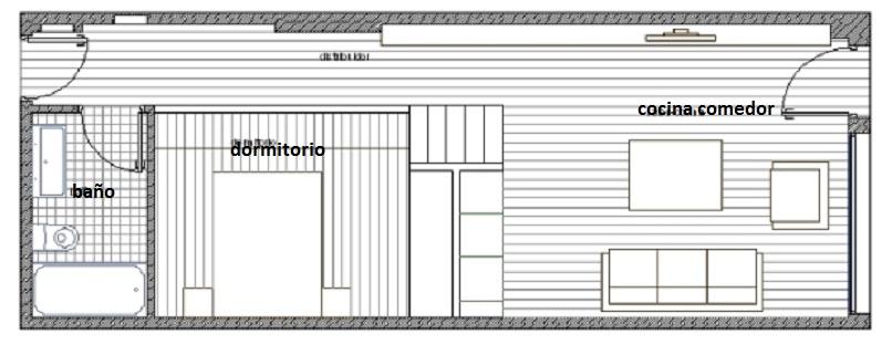 Plan de loft pequeño