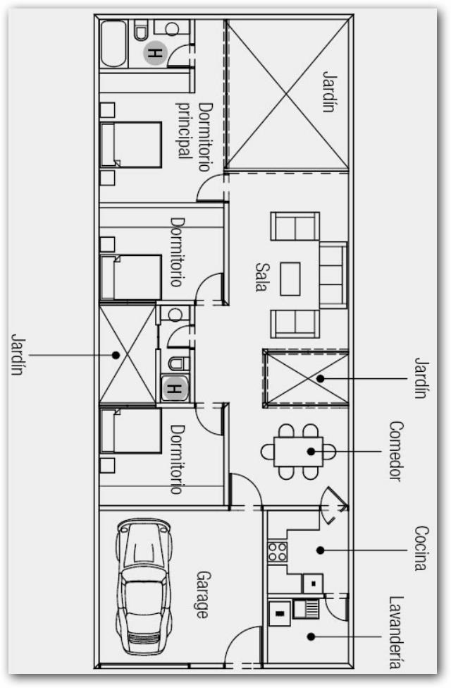 Plano de casa 200 metros cuadrados