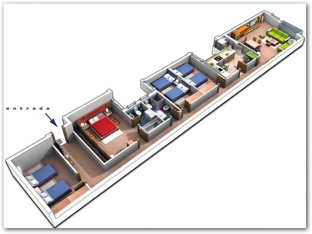 Plano de casa angosta y larga - Distribucion casa alargada ...