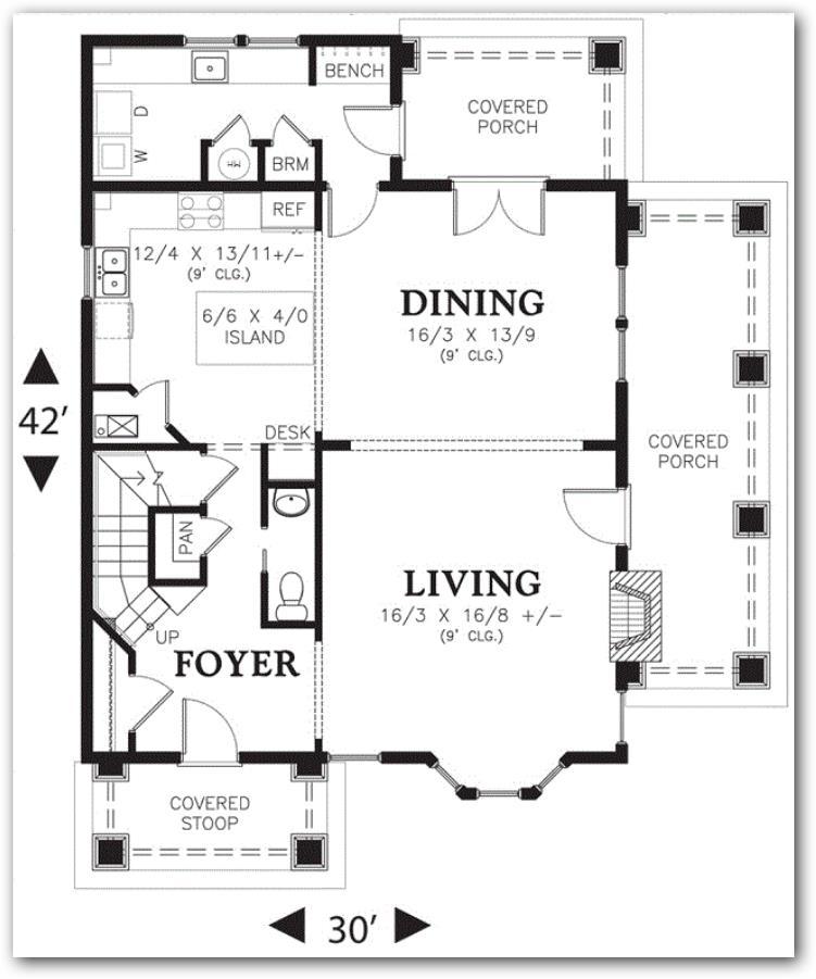 Plano de casa grande en 250 metros