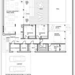 Plano de casa de campo moderna y amplia
