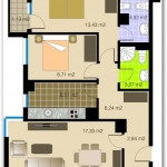 Departamento de 64 metros cuadrados y dos dormitorios
