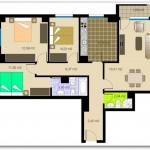 Plano residencial para departamento o casa