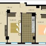 Plano de casa con fachada ancha