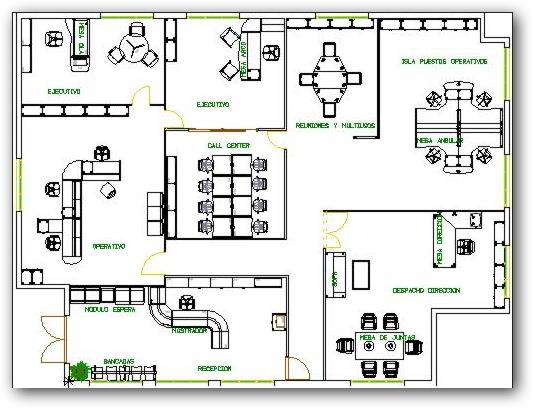 Planos arquitectonicos oficinas modernas for Plantas de oficinas modernas