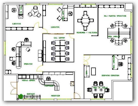 Planos de oficinas pequenas for Dimensiones arquitectonicas