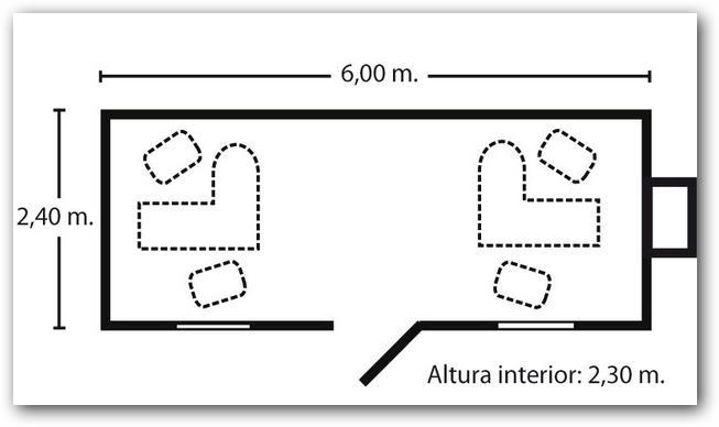 planos de departamentos en 3 dimensiones con pequenas oficinas