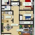 Plano de casa con fachada amplia