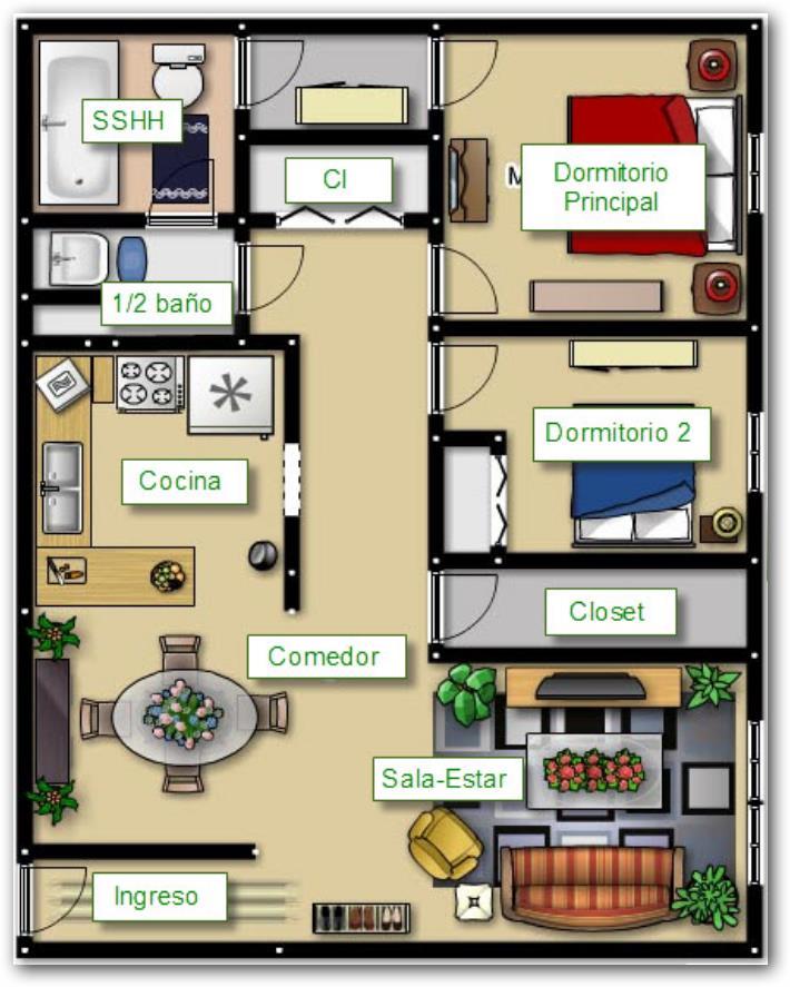 Como puedo disenar en un terreno de 6x20 planos de casas for Planos de casas 6x20