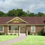Casa prefabricada de un nivel y tres dormitorios