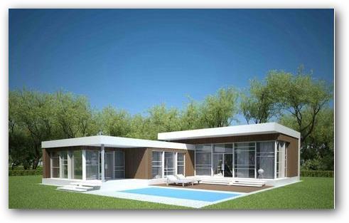 Plano de casa de campo moderna y amplia for Planos de casas de campo modernas