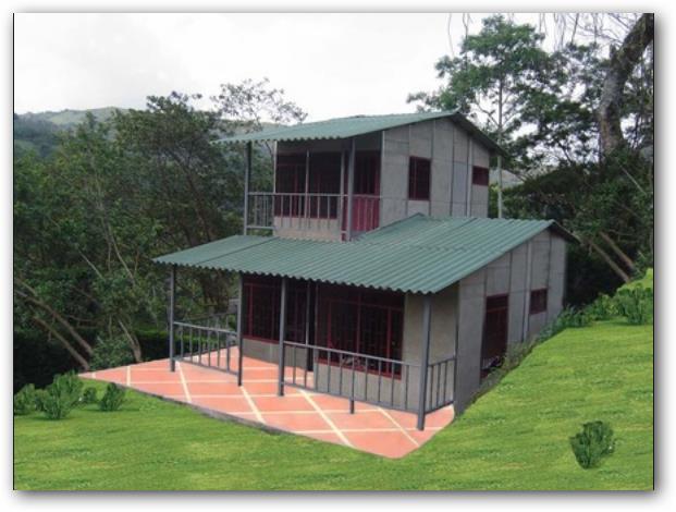 casa prefabricada con dos pisos