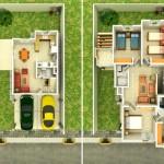 Casa con garage doble y dos plantas