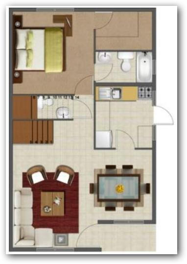 Planos se casas de dos plantas 3 dormitorios 42 metros for Hacer planos de habitaciones