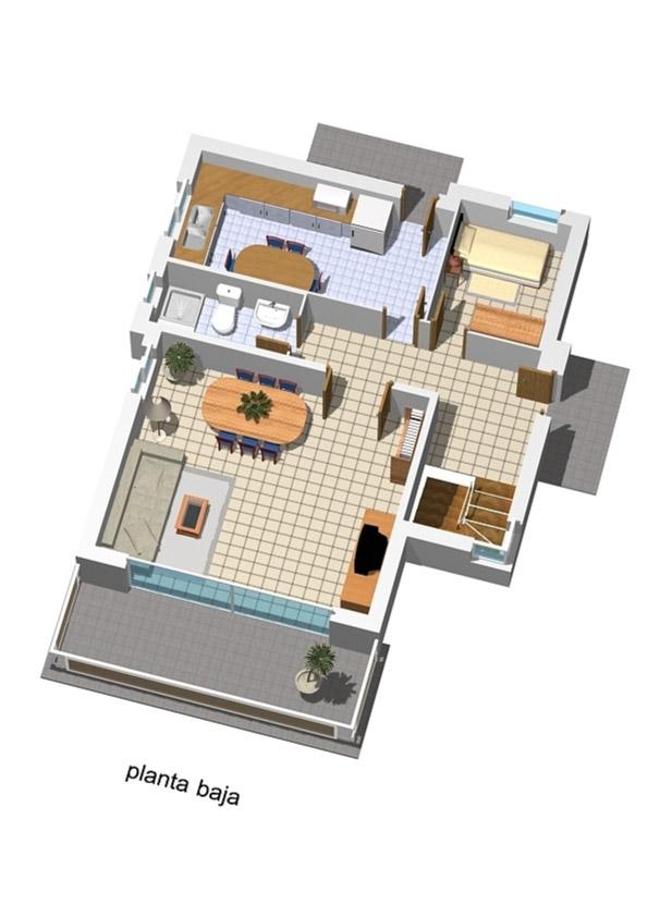 Casa de 3 plantas con garaje en sotano