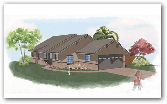 Casa tradicional con entrada lateral