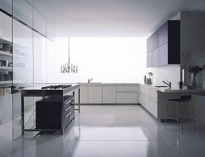 Cocina de aluminio muy moderna