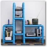 Construir estantes económicos en el hogar