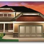 Plano de casa estilo americana de 3 dormitorios
