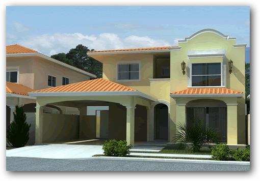 Modelo casas procrear de 60 metros estilo colonial for Planos para casas de dos pisos modernas