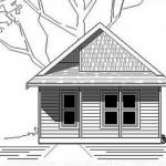 Plano de casa de 30 metros cuadrados y dos dormitorios