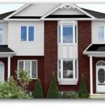 Plano de adosado estilo inglés de tres habitaciones