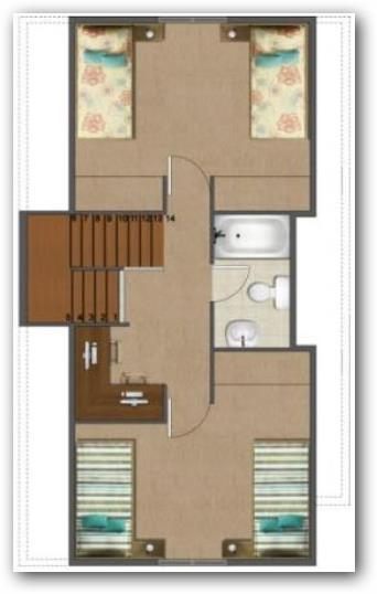 Casa con sotano y dos plantas 70 metros for Planos de habitaciones