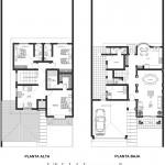 Casa colonial moderna de 2 pisos